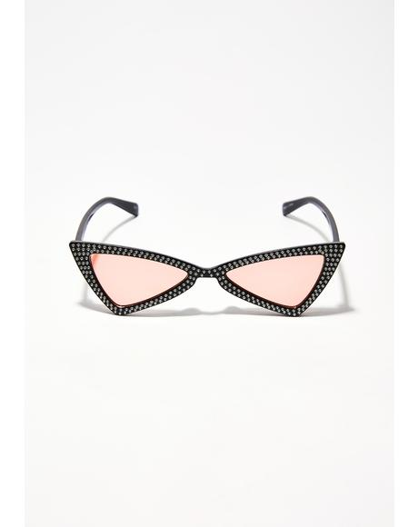 Electric Lolita Jeweled Sunglasses