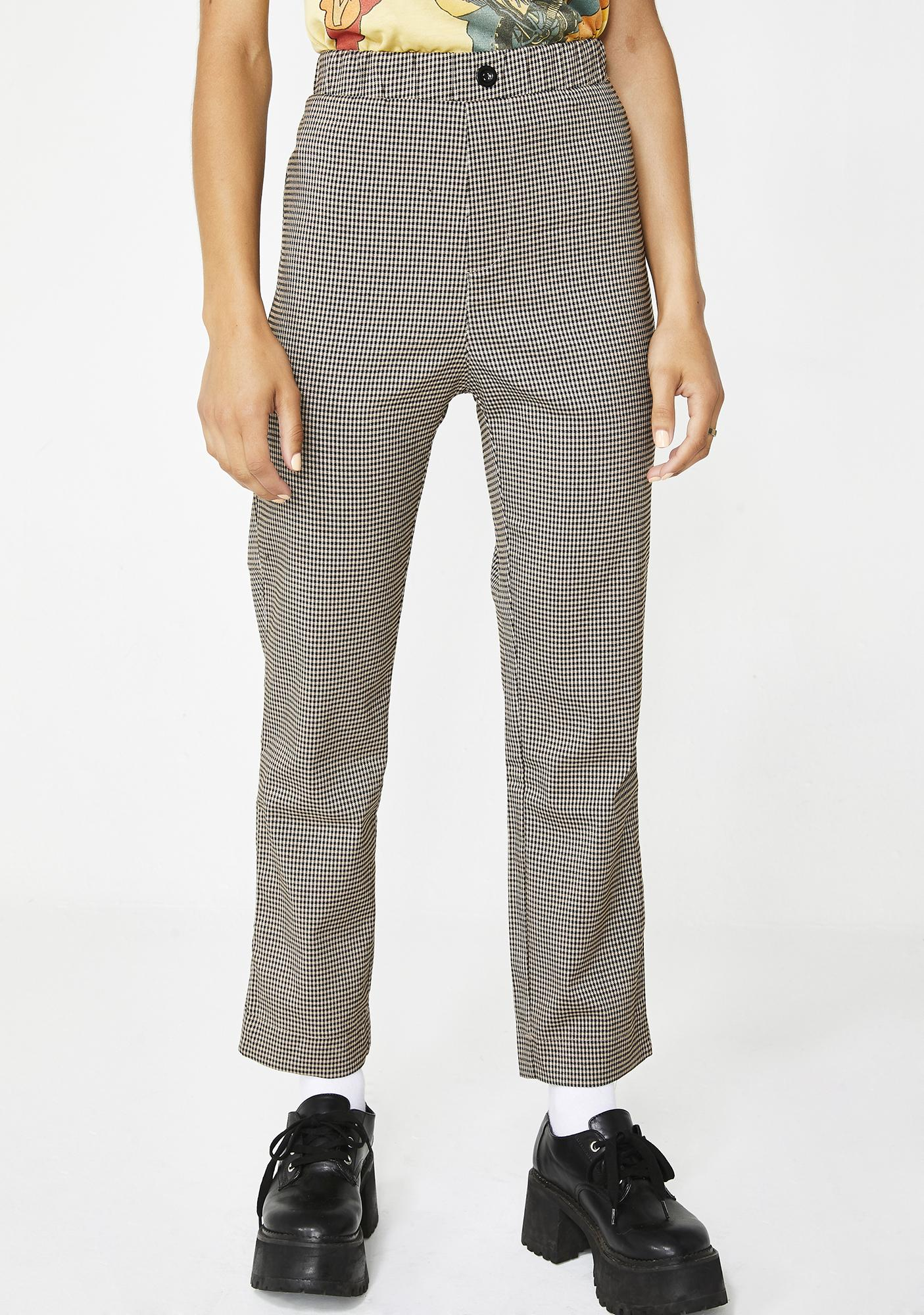 Brainy Gal Houndstooth Trousers