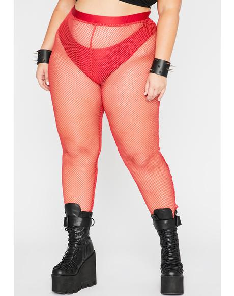 Fire Mz Play Or Slay Fishnet Leggings
