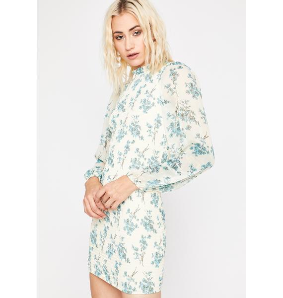 Pressed Flowers Long Sleeve Dress