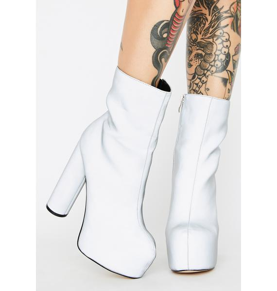 Chrome Act Up Reflective Platform Boots
