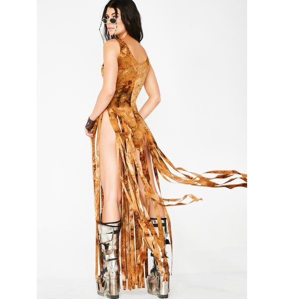 Sunrise Warrior Fringe Bodysuit