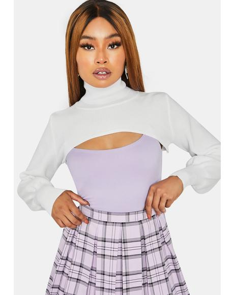 Icy Way Out There Cropped Turtleneck Shrug