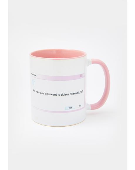 Delete All Emotions Mug