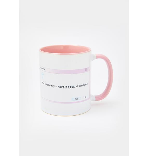 Femfetti Delete All Emotions Mug