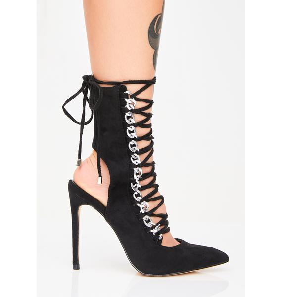 Public Desire Submission Chain Heels