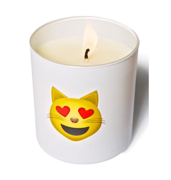 Wick[ed] Meow Emoji Candle