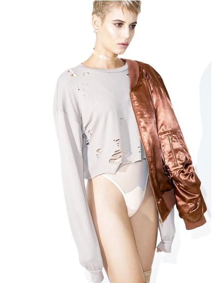 Braina Distressed Sweater