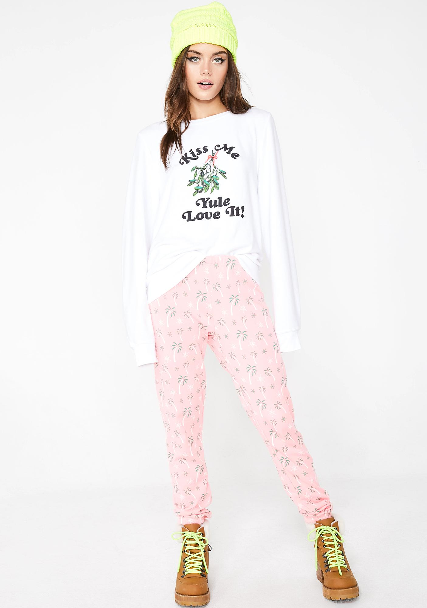 Wildfox Couture Yule Love It Baggy Beach Jumper