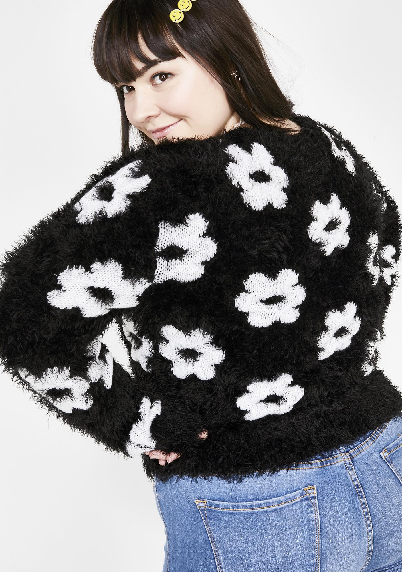 dELiA*s by Dolls Kill Silly Lovefool Fuzzy Sweater