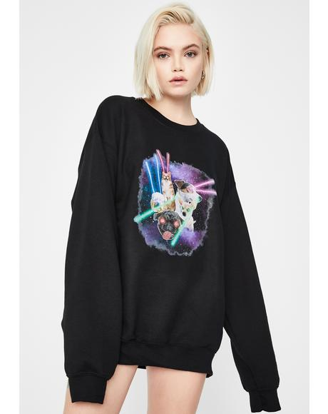 Space Dogs Graphic Sweatshirt