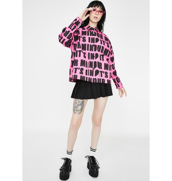 Lazy Oaf It's In Your Mind Button Up Shirt