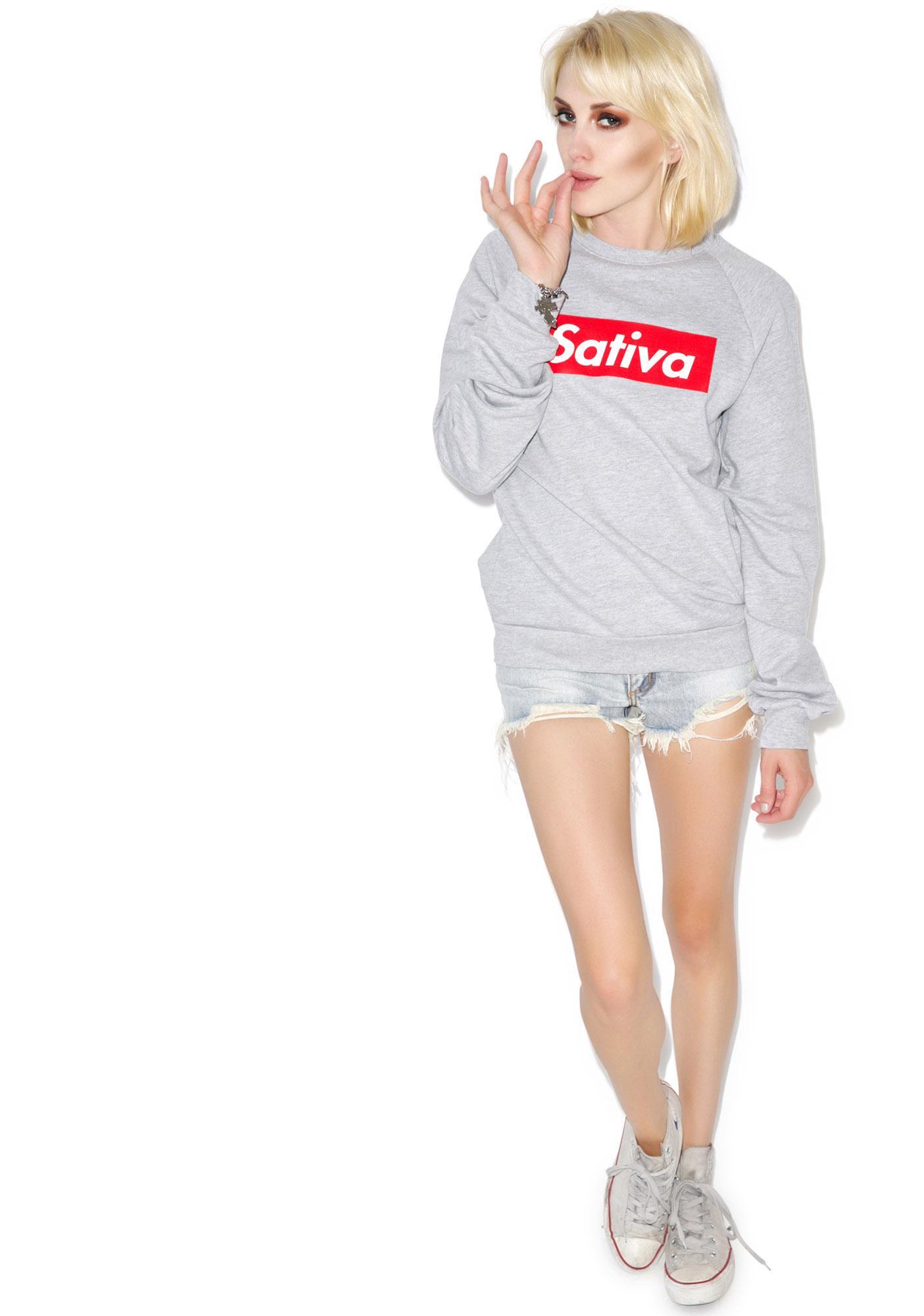 MeYouVersusLife Sativa Crewneck Sweatshirt