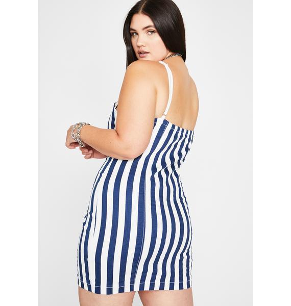 Everyone Falls Stripe Dress