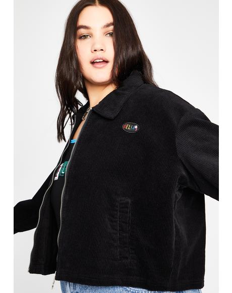 Get Back To Reality Cropped Jacket