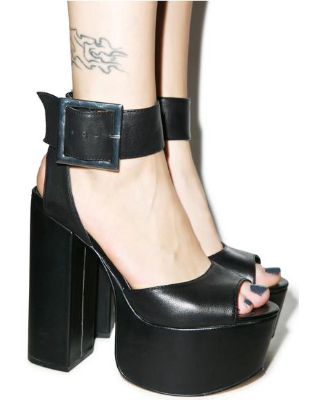 Tuckie Leather Platform