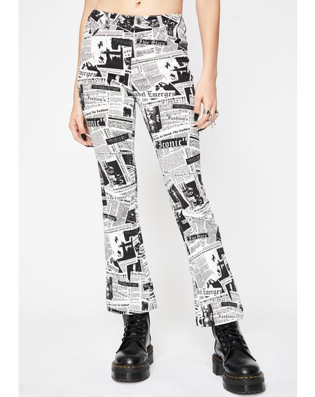 Read It And Weep Newsprint Jeans