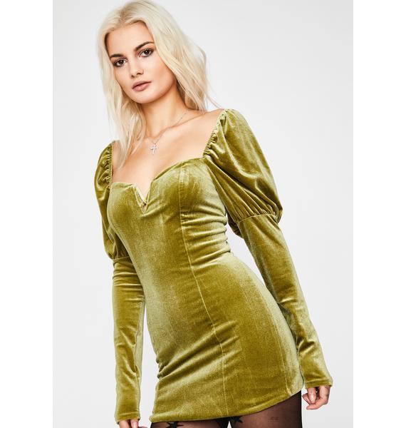 Dish Babe Velvet Mini Dress