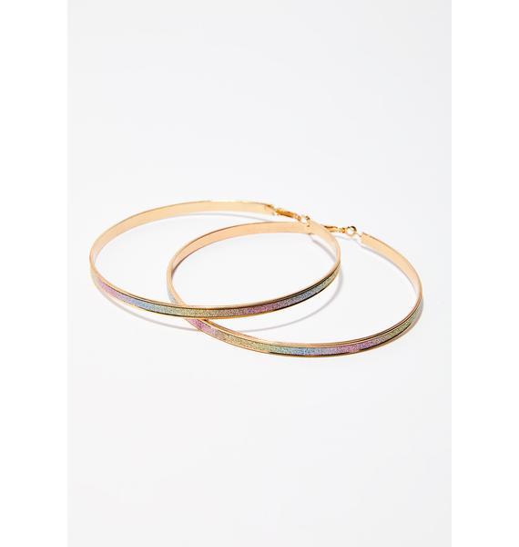 Rainbow Showerz Hoop Earrings