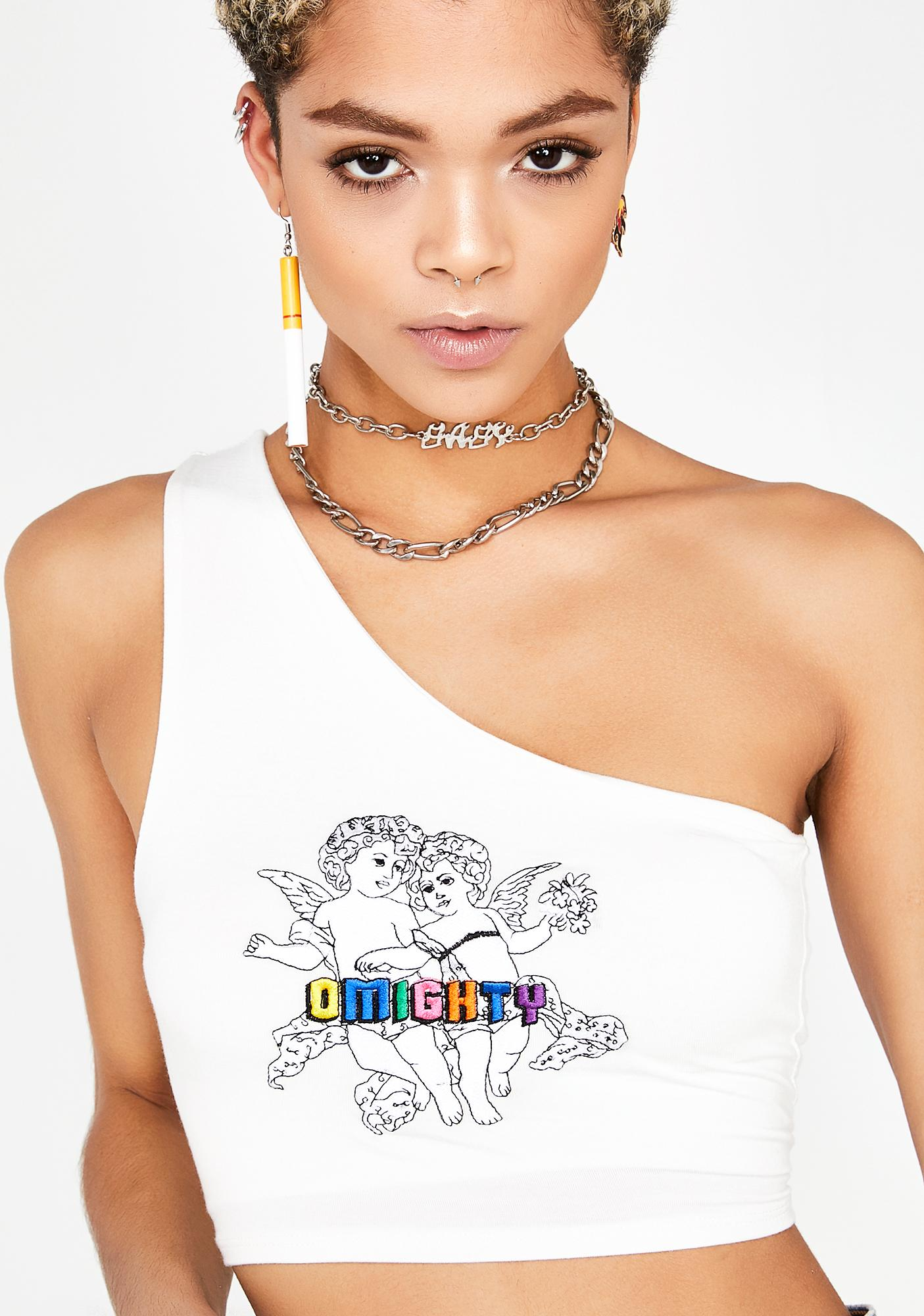O Mighty Angel BBs One Shoulder Top