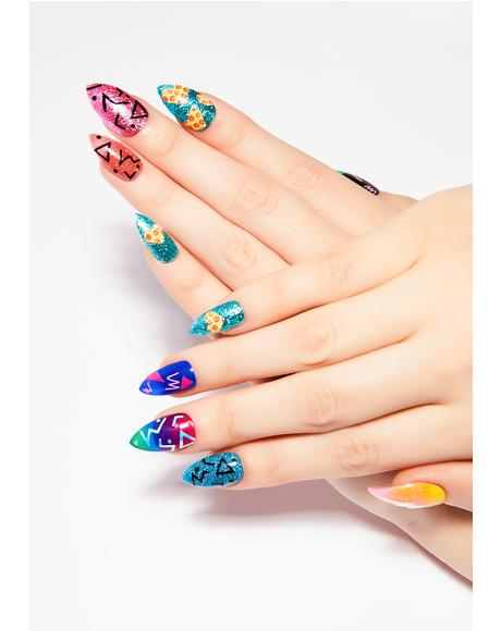 x OG Nails LA 80's Press On Nail Set