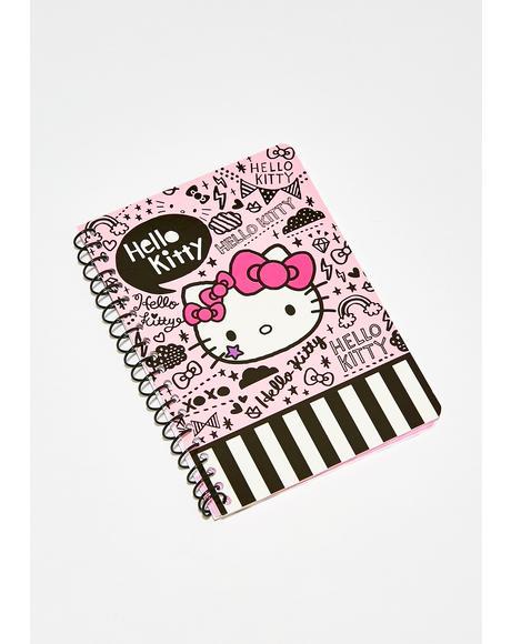Hello Kitty Tokidoki Mini Spiral Notebook