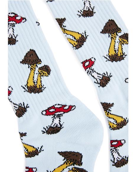 Mushroom Cap Crew Socks