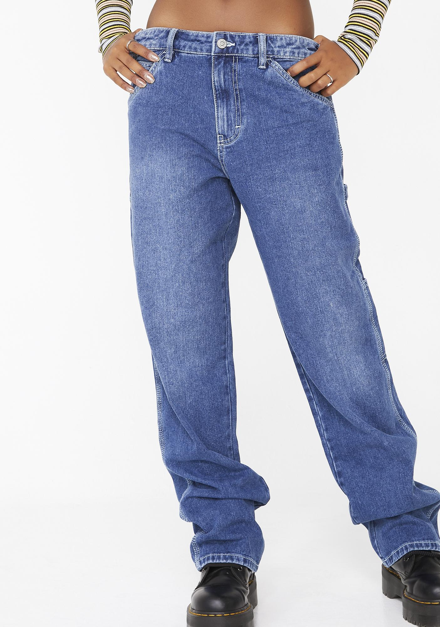 ed5e8edb283 Dickies Girl Carpenter High Relaxed Fit Jeans