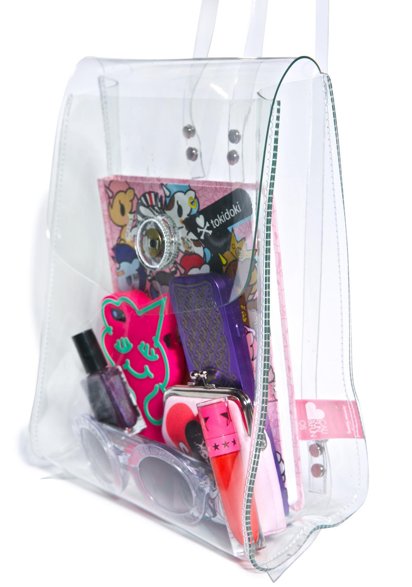 American Apparel Clear Mini Backpack