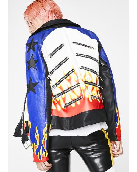 Leave Em' In The Dust Moto Jacket