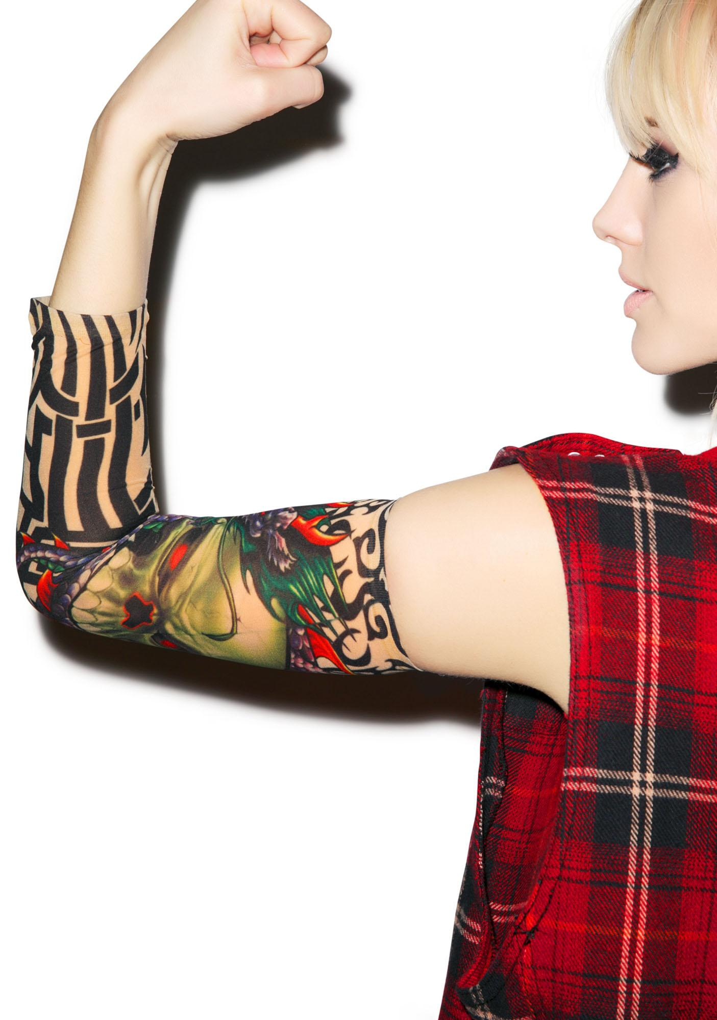 Enter the Skull Dragon Tattoo Sleeves