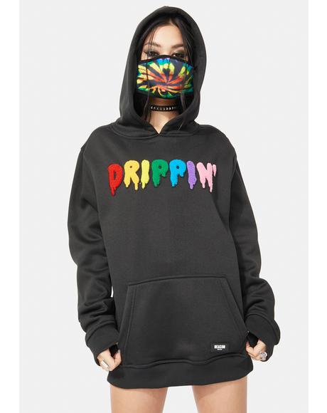 Drip Removable Face Mask Hoodie