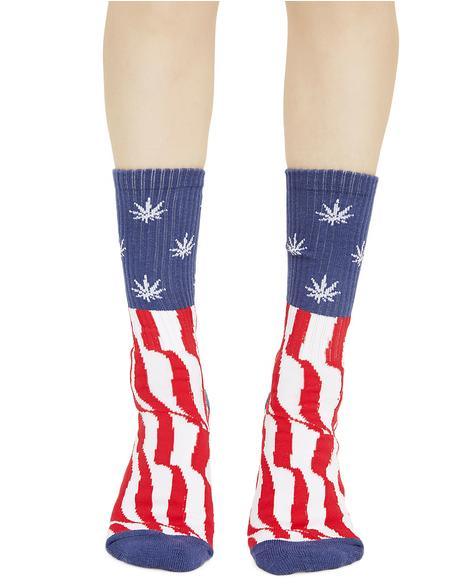 Legalize Freedom Crew Socks