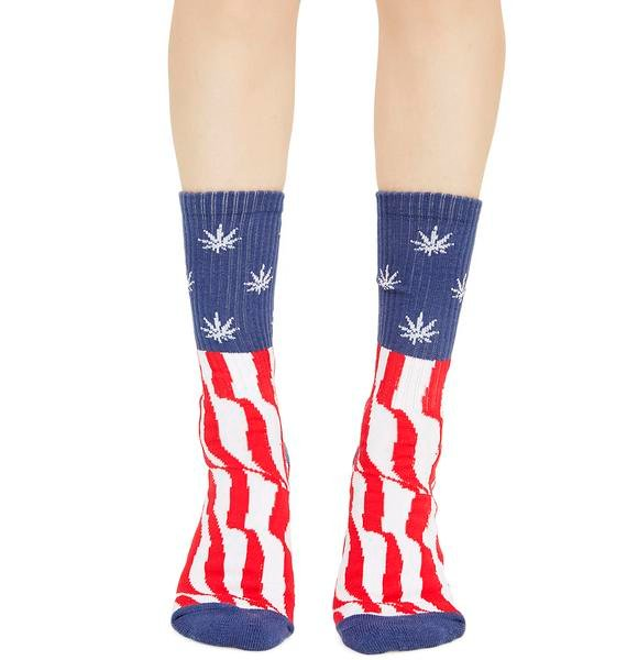 HUF Legalize Freedom Crew Socks