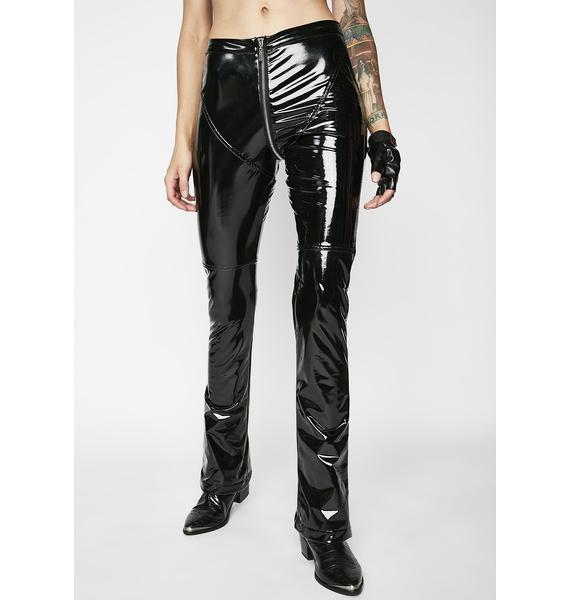 Matte Dark Siren PVC Pants