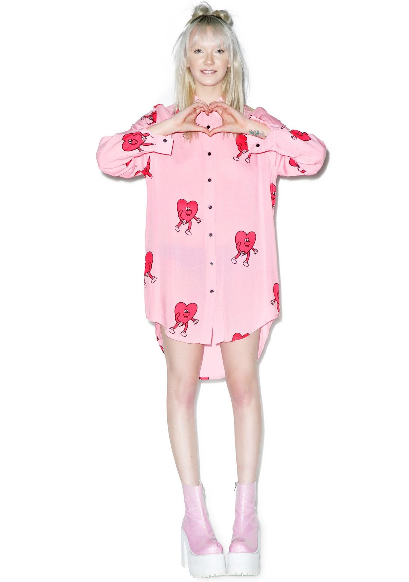 Lazy Oaf Running Hearts Shirt