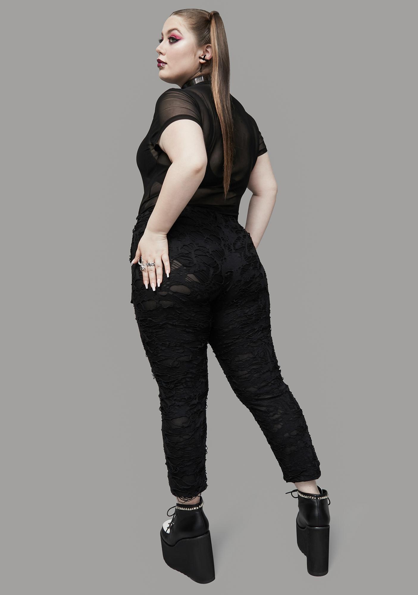 Widow Totally Toxic For Life Shredded Leggings