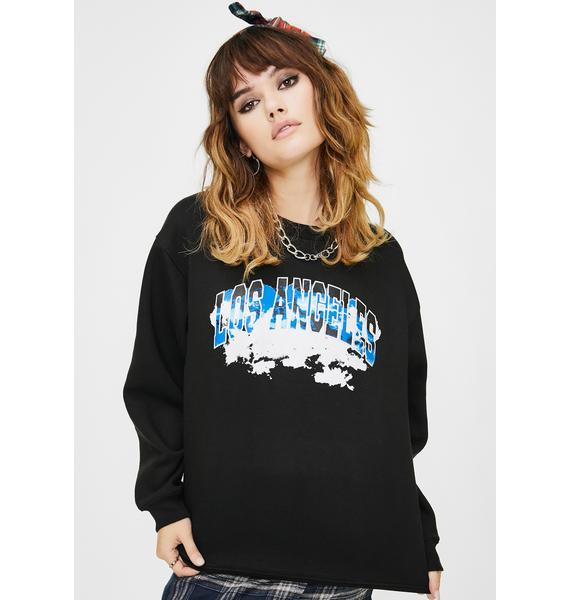 Daisy Street Los Angeles Graphic Pullover