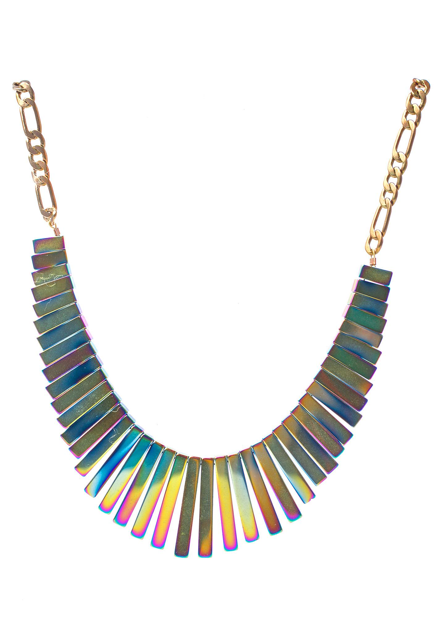 Vittrock Hematite Collar Necklace