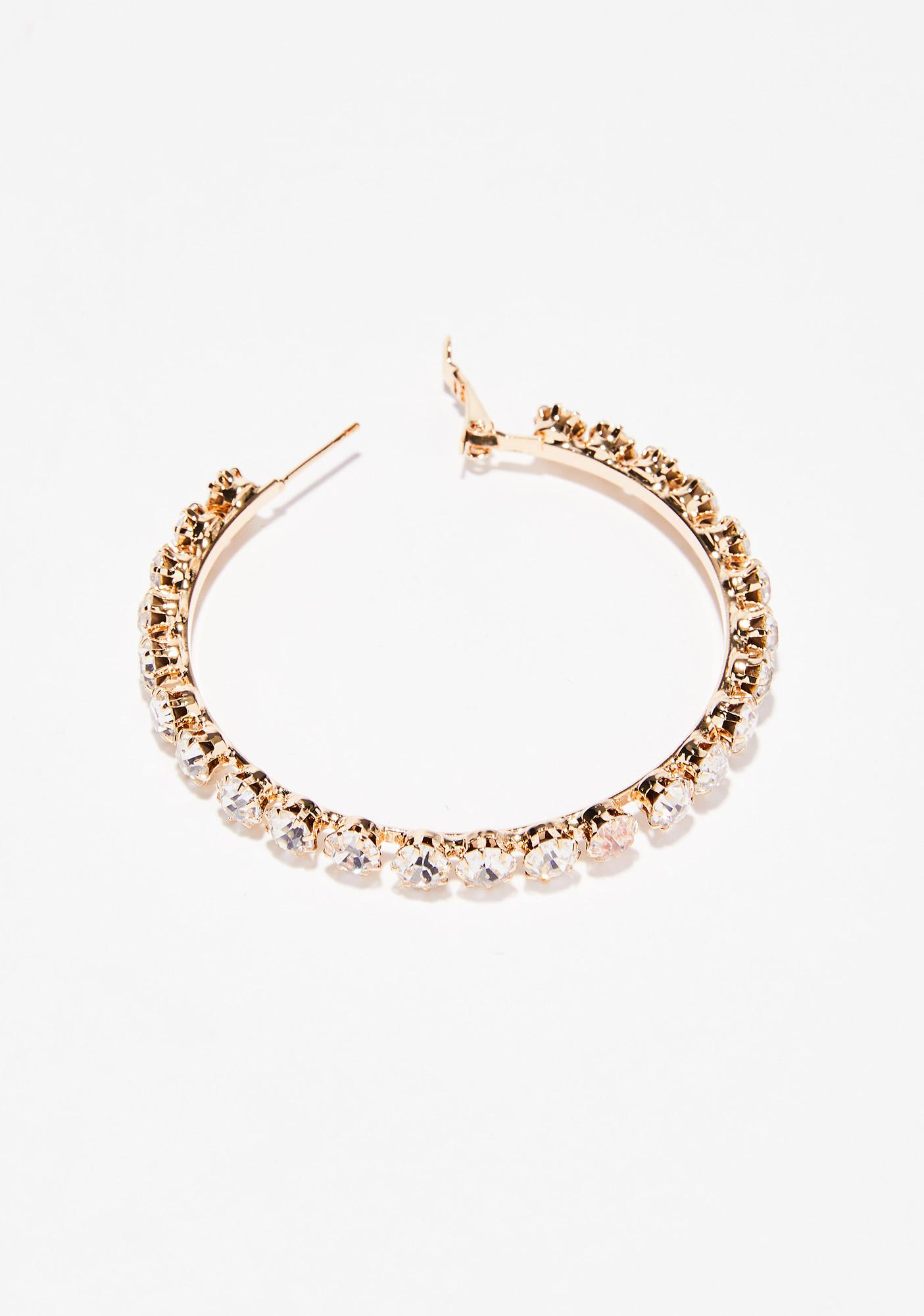 Gold Go Getter Hoop Earrings