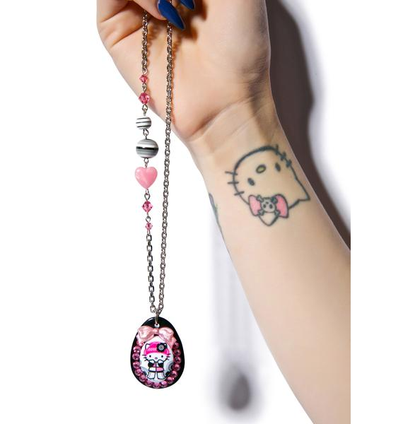 Tarina Tarantino Not Kitty Crystal Necklace