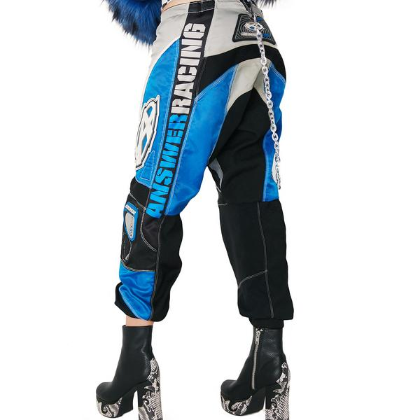 Vintage Blue Racing Pants
