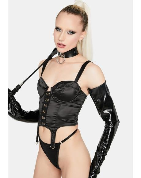 Do It Right Satin Bustier Top