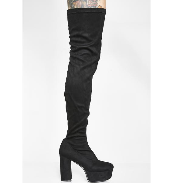 Lamoda Rider Thigh High Boots