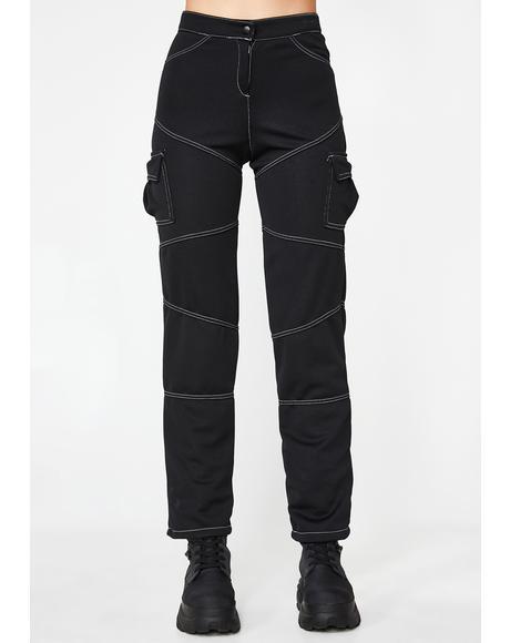 Slit Cargo Pants