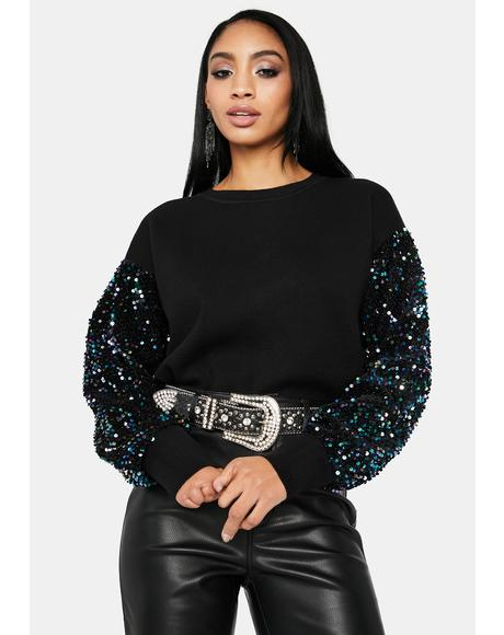Festive Secret Sequins Sweater