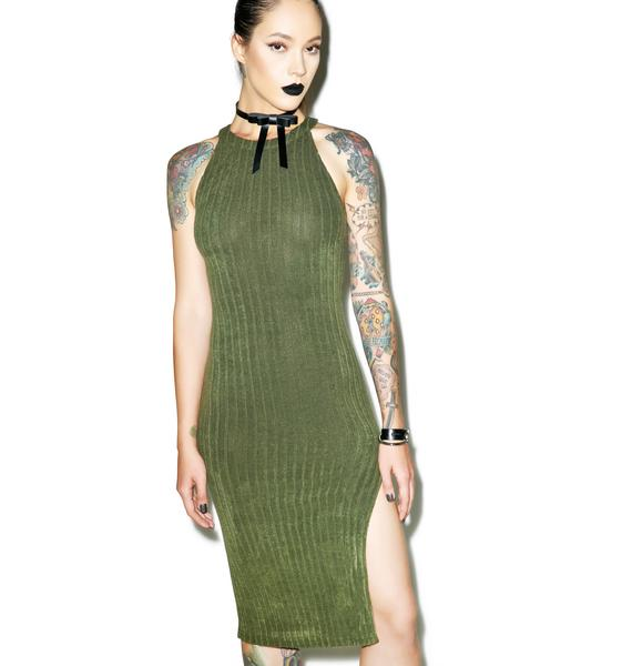 Mean Green Midi Dress