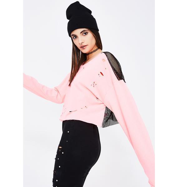 Not Understood Distressed Sweater