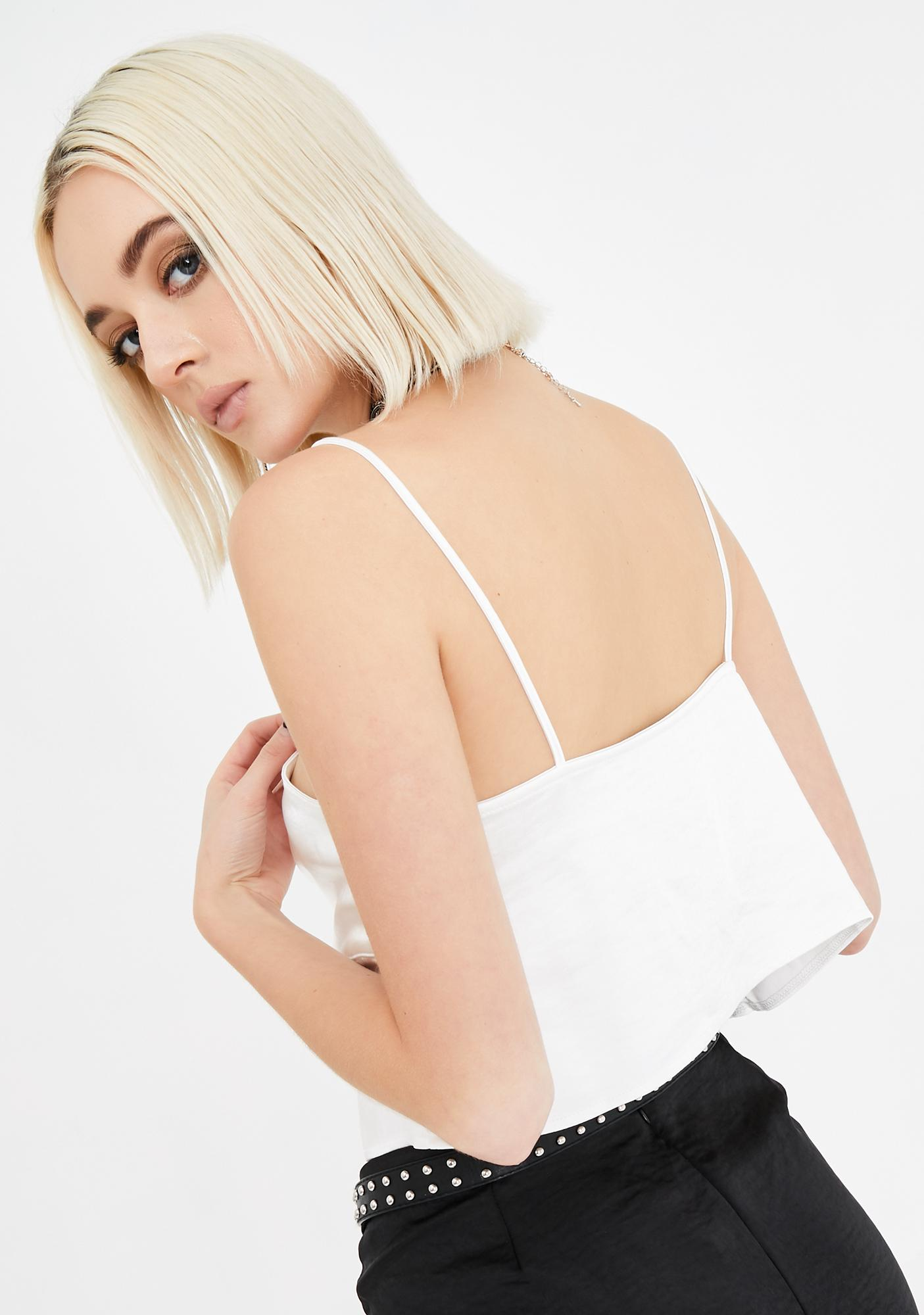 Motel Roce Front Tie Cropped Cami