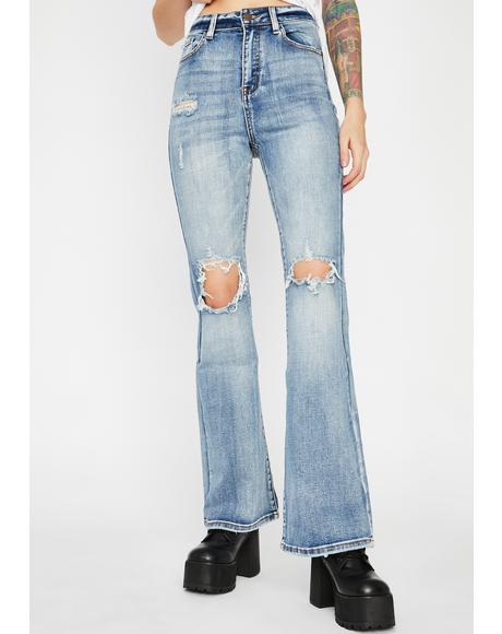Keep Rollin' Denim Flares